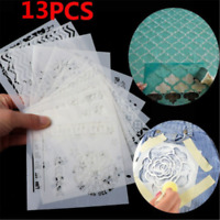 13PCS Embossing Template Scrapbooking Walls Painting Layering Stencils HOT