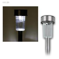 à 10 pièces Set solaire LED Lumières Acier inoxydable Lampe solaire
