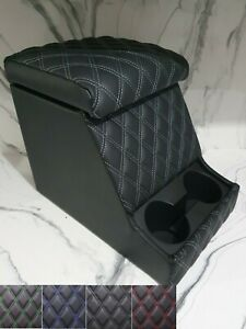Land Rover Defender 90/110 Deluxe Cubby Box Diamond Stitched Quilted Vinyl