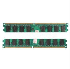Hot 4G 4GB(2X2GB) DDR2 667MHZ PC2 5300 5300U Dimm Memory Ram PC Desktop 240 Pin