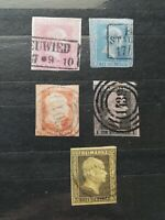 German Stamps -- Germany States Prussia 1858-1860 SC9-13 (SCOTT 230 USD)