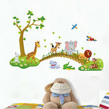 Wall Sticker Zoo Animal Jungle Tree Baby Nursery Bedroom Decal Art Cute Design