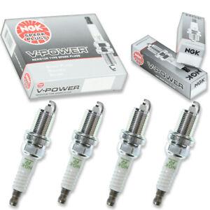 4 pcs NGK V-Power Spark Plugs for 1997-1998 Honda CR-V 2.0L L4 - Engine Kit zm