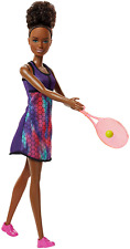 Barbie Career Role Model 12 Inch Toy Doll Tennis Player Black Afro Caribbeanl