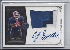 C.J. SPILLER 2010 NATIONAL TREASURES RPA 3 COLOR PATCH AUTO RC #D 92/99