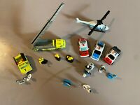 Vintage Galoob Micro Machines Police and Fireman lot