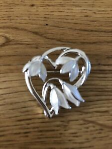 Snowdrop Brooch Silver Plated by Equilibrium
