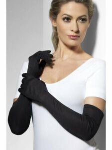Ladies Long Black Gloves Opera Wedding Bridal Evening Party Prom Flapper Costume
