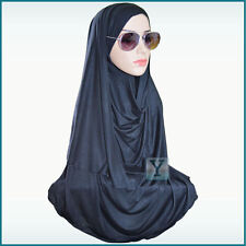 One Piece summer Hijab Jersey Ready Made Pull on Scarf Instant Stretch Pin free