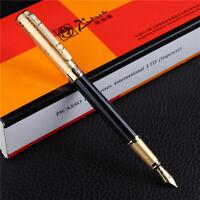 Picasso 902 Gentleman Fountain Pen Black Gold Cap Medium Nib Signature Pen
