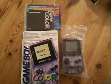 Nintendo Game Boy Colour clear purple Console Boxed + Booklet very good con