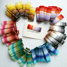 Linen yarn color card, 66 colors samples and 4 thickness samples