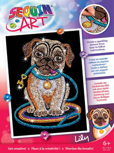 Sequin Art 1502 Lily Pug Dog DIY Craft Kit From The Red Range