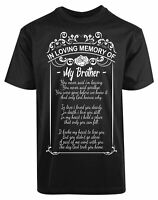 In Loving Memory of My Brother New Men's Shirt Love Siblings Humor Stylish Tees