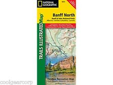 National Geographic Trails Illustrated Alberta/BC Canada Banff North Map 901
