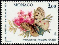 """MONACO N° 1423 """"PAPILLONS ET PLANTES DU MERCANTOUR, 3 F""""NEUF xxTTB"""