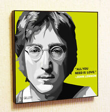 John Lennon The Beatles Music Painting Decor Print Wall Art Poster Pop Canvas
