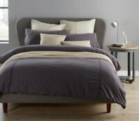 Christy Peonia Charcoal Super King Size Duvet Set 100% Cotton