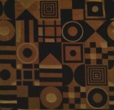 JAB Carlucci Red Funkhouse Black Beige Silver Geometric Raised Velvet Remnant