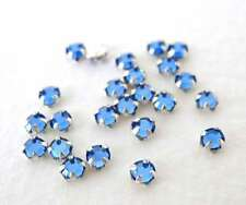 Vintage Bead Swarovski Crystal Rose Montees Medium Sapphire Sew On Tiny 3mm