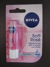 Nivea Soft Rose Lip Balm, 4.8g, Lasting Moisture, Made in Germany