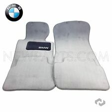 BMW E46 323Ci 323i 328i 328Ci Set of 4 Carpet Floor Mats Cloth Mat Gray Genuine