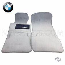 BMW E46 323Ci 323i 328i 328Ci Set of 4 Carpet Floor Mats Cloth Mat Gray Genuine