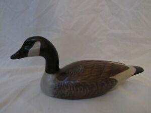 Vintage David R Jackson Folk Art Carved Wood Canada Goose Decoy  Artist Signed