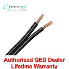 QED 79 Strand Superior High Grade Quality Speaker Cable - Price Per M - Black