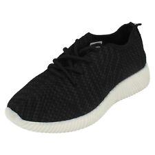 SALE Ladies Reflex Textile Lace Up Sports Shoe F7073
