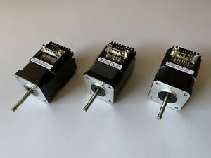 3x Lin Engineering Stepper Motors CE-4118S-65D-02RO + Encoders & Controllers