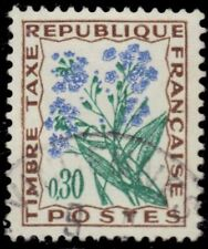 "FRANCE J102 - Forget-me-Not Flowers ""Postage Due"" (pb26164)"