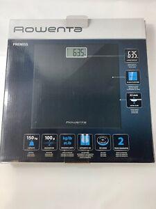 Rowenta BS1060 Premiss Digitale Personenwaage 150 Kg mit Glasplatte