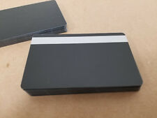 Black PVC w/ Silver HiCo 2 Track Cards, CR80.30 mil Thin Mag Stripe - Pack of 10