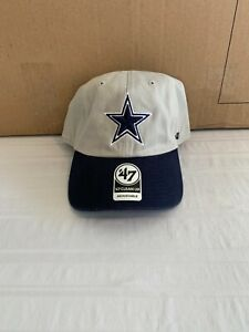 Dallas Cowboys NFL '47 Brand Gray Two Tone Clean Up Adjustable Hat Brand New