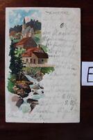 Postkarte Ansichtskarte Sachsen-Anhalt Lithografie SCHIERKE