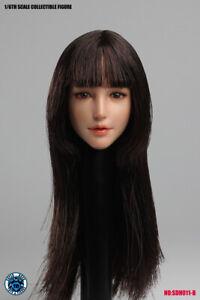 "1/6 SUPER DUCK SDH011B Asian Girl Head Sculpt Fit 12"" Female Action Figure"