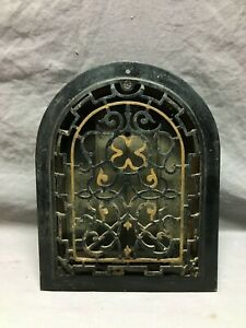 Antique Cast Iron Arch Top Dome Heat Grate 9x12 Register Old VTG Black 1064-21B
