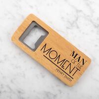 Personalised Engraved Wooden Bottle Opener Best Man Any Name Text Wedding Usher