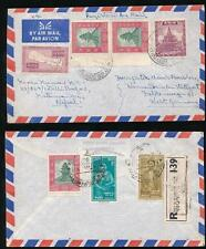 NEPAL REGISTERED AIRMAIL to WEST GERMANY 1964 MULTI FRANKING