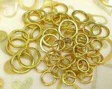 45 x Gold Smooth Rings Links 15mm & 9mm  Linking rings