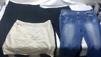 Jeans women bottom mixed lot 4 size 22 w plus pants skirt tommy hilfiger x57