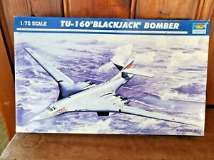 "TRUMPETER 1:72  Tu-160 ""BLACKJACK"" BOMBER MODEL AIRPLANE KIT  (OPEN BOX)"