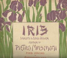 Spartito Musicale Iris di Mascagni Serenata di Jor per Piano Ricordi Illustrato