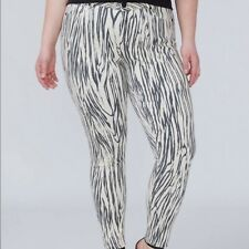 dcb7c6293aa Lane Bryant 16 Mid Rise Super Stretch SKINNY Ankle Zebra Jeans 16w Power  Pockets