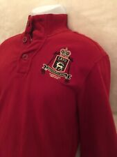 """Polo By Ralph Lauren Half Zip """"Madison Avenue"""" Rugby Pullover. Men's Size: M"""
