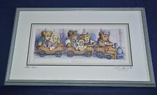 "LAURA BERRY DOUBLE SIGNED AND NUMBERED ""TEADY'S EXPRESS"" FRAMED PRINT COA"