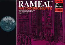 RAMEAU 5 Concertos Suites LP RUGGERO GERLIN Pierre Rampal ROGER ALBIN SFL14128