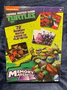 Teenage Mutant Ninja Turtles 72 Card MEMORY MATCH GAME Brand NEW Sealed