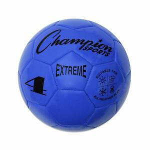 Champion Sports Extreme Soft Touch Butyl Bladder Soccer Game Ball, Size 4, BLUE